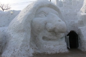 Wicked with sculptured igloo
